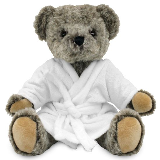 Blank 20cm Archie Jointed Bear with Dressing Gown