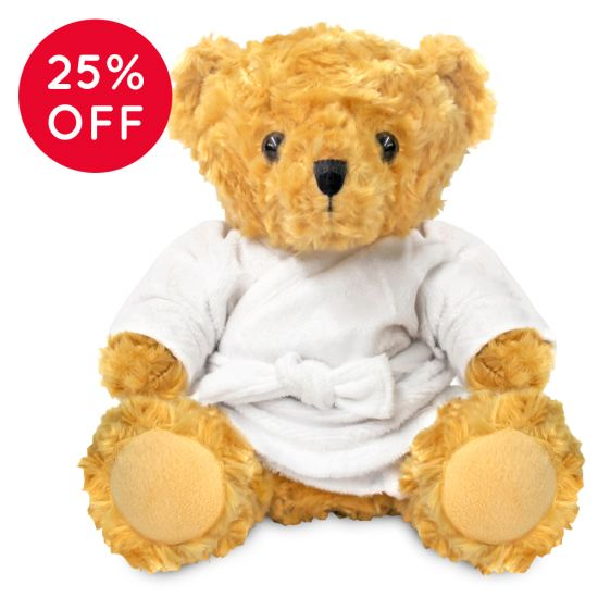 Blank 19cm Victoria Bear with Dressing Gown