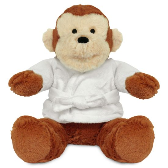 Blank 20cm Max Monkey with Dressing Gown