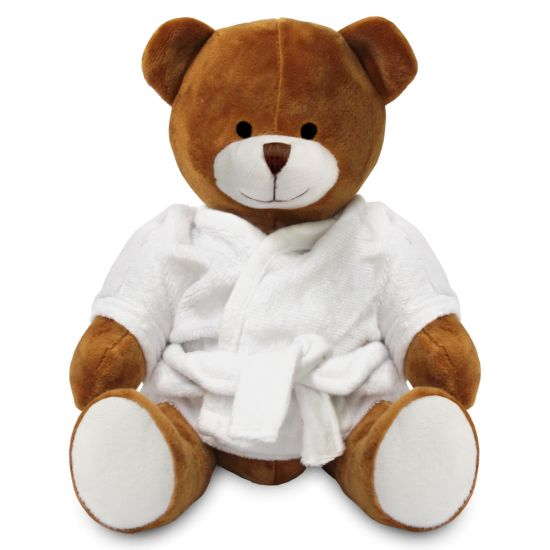 Blank 20cm Richard Bear with Dressing Gown