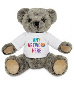 Promotional Archie Jointed Teddy Bear 20cm - Printed Soft Toys - Large Soft Toy - Full Colour Print as standard
