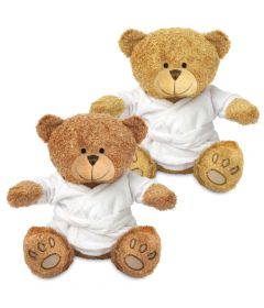 Blank 22cm Edward Bear with Dressing Gown