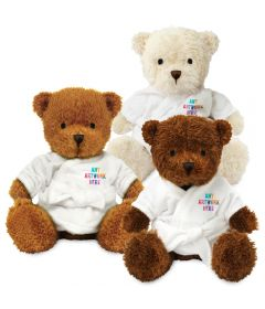 18cm James Bear with Dressing Gown