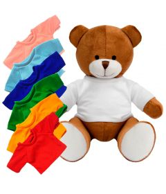 Blank 20cm Richard Bear with Coloured t-shirt